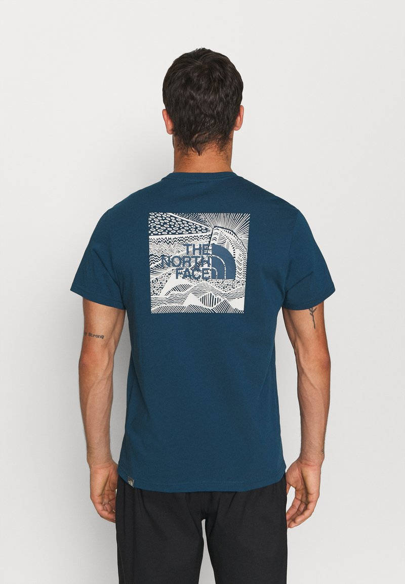 The North Face - REDBOX CELEBRATION TEE - T-shirt con stampa - monterey blue