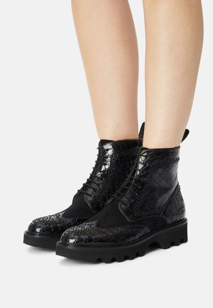 SALLY  - Lace-up ankle boots - black
