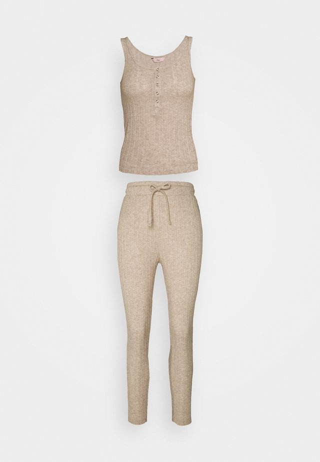 LILLIE POINTELLE VEST AND LEGGING - Pyjama - oatmeal
