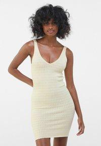 Bershka - Shift dress - yellow - 0
