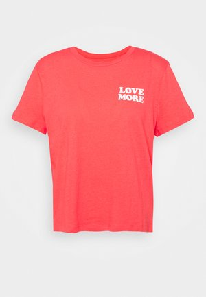 SHRUNKEN TEE - T-shirt imprimé - rose bush