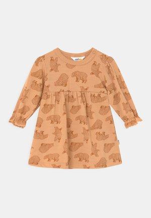Žerzejové šaty - copper