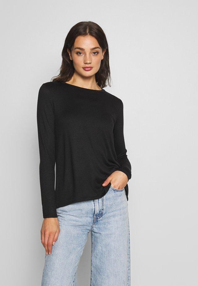 CREW BUTTER PLUSH - Long sleeved top - black