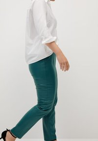 Violeta by Mango - POLI - Leggings - Trousers - dark green - 3