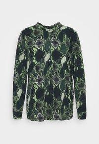 JDYMILO SNAKEY PLACKET - Blouse - dark green