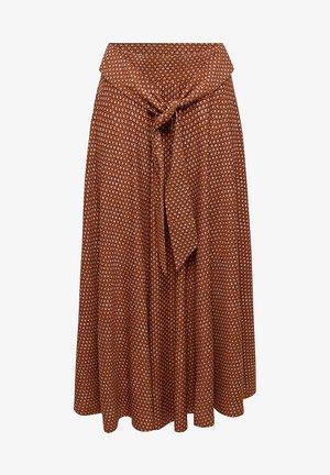 Jupe trapèze - rust brown