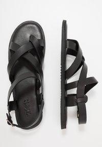 Zign - UNISEX - T-bar sandals - black - 1