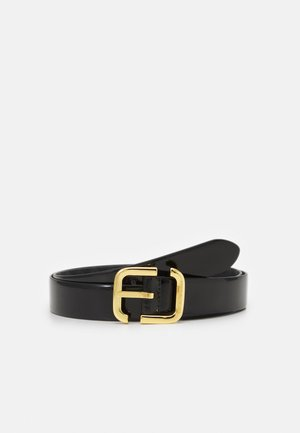 EAGLE LOGO WOMENS TONGUE BELT - Belt - black