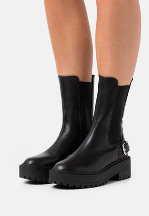 HIGH CHELSEA BOOT - Platform boots - black