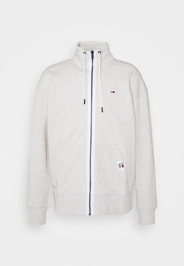 SOLID TRACK JACKET - veste en sweat zippée - grey