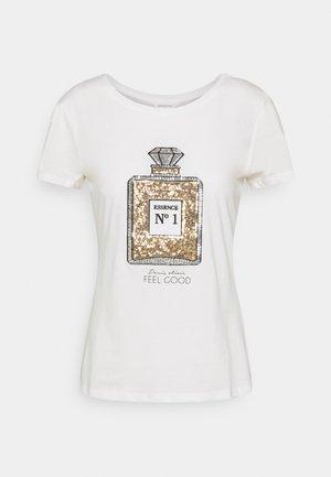 CAMISETA LENTEJUELA - T-shirt con stampa - white