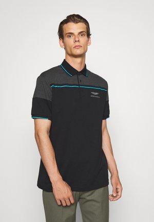AMR CUT LINE  - Poloshirt - blk/charcol
