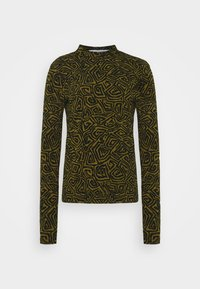 Proenza Schouler White Label - ABSTRACT SWIRL SHEER STRETCH - Long sleeved top - military/black - 6