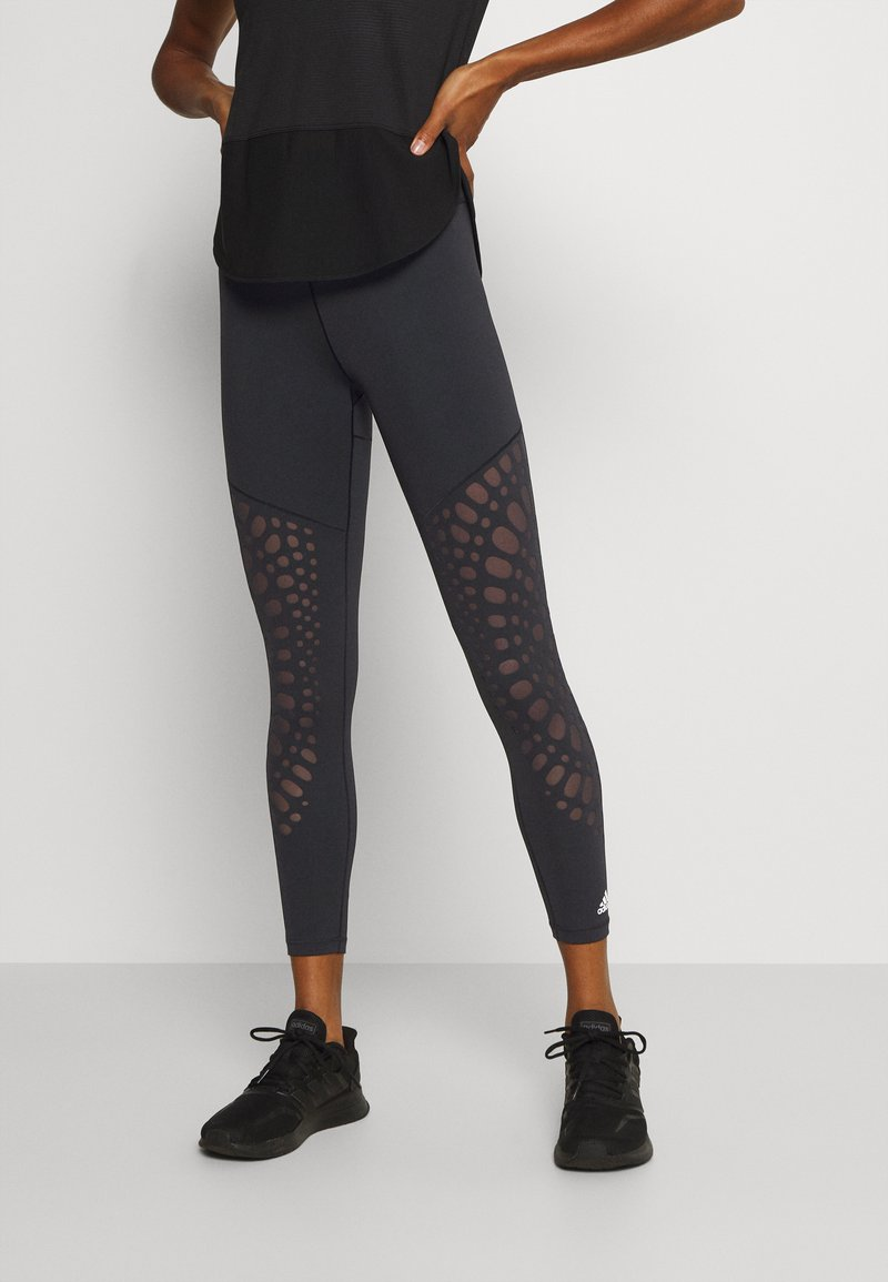 adidas Performance - POWER 7/8 - Leggings - black