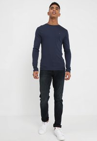 Tommy Jeans - ORIGINAL SLIM FIT - Long sleeved top - black iris - 1