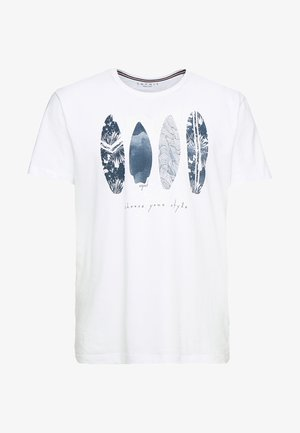 FEATHER - Print T-shirt - white