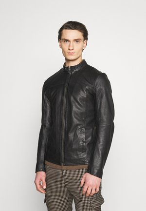 WILSON - Leather jacket - black