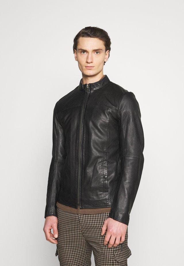 WILSON - Veste en cuir - black