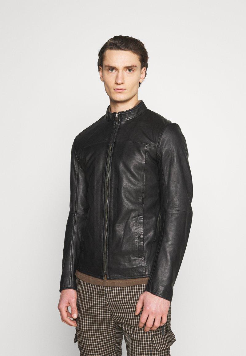 Tigha - WILSON - Kožená bunda - black