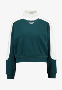 Reebok Classic - GRAPHIC SERIES CASUAL LONG SLEEVE PULLOVER - Sudadera - deep teal/white - 3