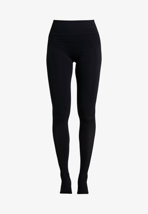 SEAMLESS OPEN HEEL LEGGINS - Punčochy - black
