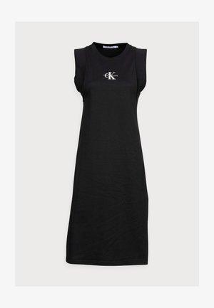 KNOTTED T-SHIRT DRESS - Jersey dress - black