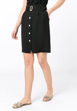 MIT TENCEL™ - A-line skirt - black