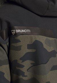 Brunotti - BARRY MENS SOFTSHELLJACKET - Snowboardová bunda - pine grey - 6