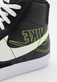 Nike Sportswear - BLAZER MID '77  - High-top trainers - black/sail/white/volt - 5