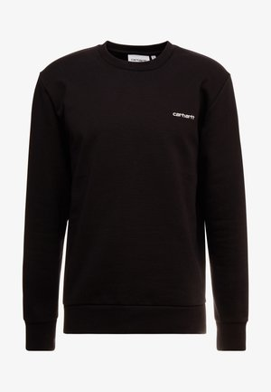 SCRIPT EMBROIDERY - Sweatshirt - black/white