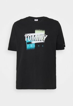 FADED COLOR GRAPHIC TEE - T-shirt med print - black