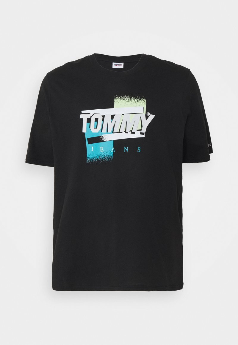 Tommy Jeans Plus - FADED COLOR GRAPHIC TEE - Print T-shirt - black
