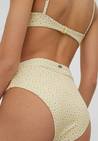 PULL&BEAR - MIT BLUMEN - Bikini bottoms - yellow - 4