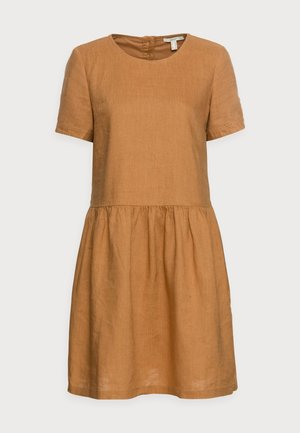 DRESS - Day dress - camel