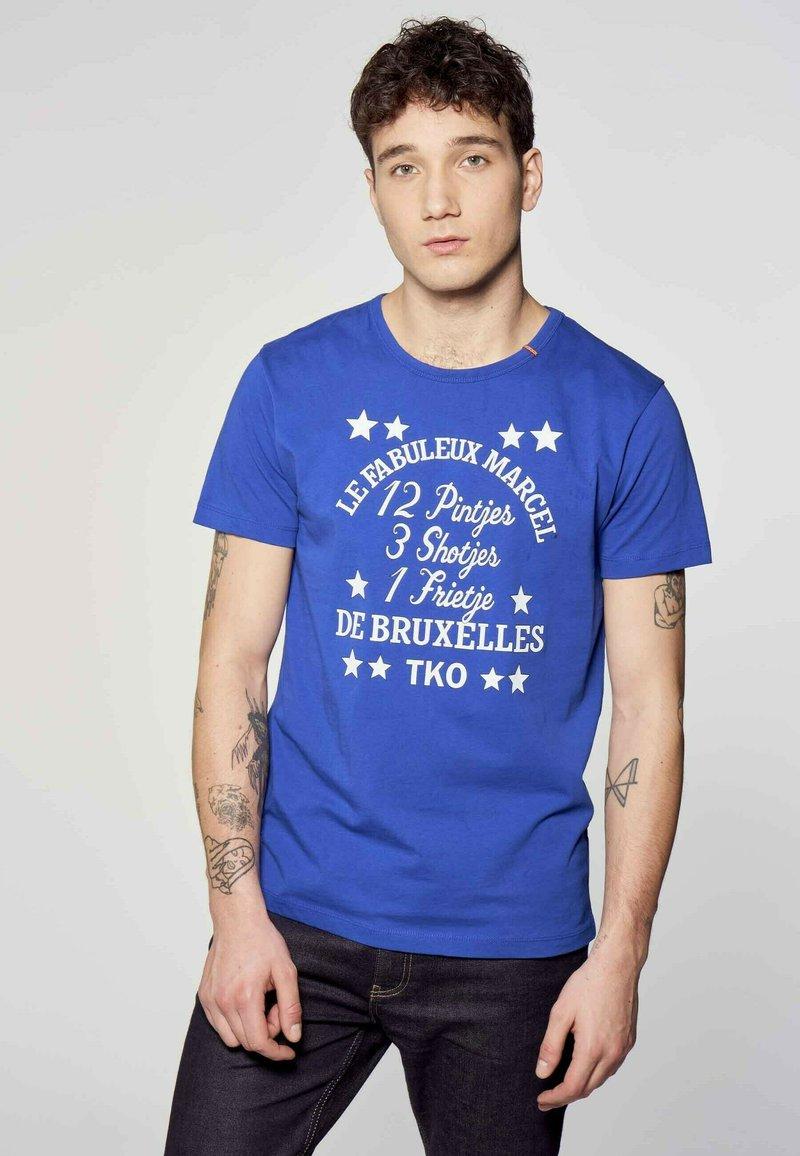 MDB IMPECCABLE - Print T-shirt - blue