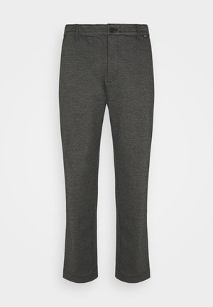 COMFORT HOUNDSTOOTH PANT - Trousers - drak grey