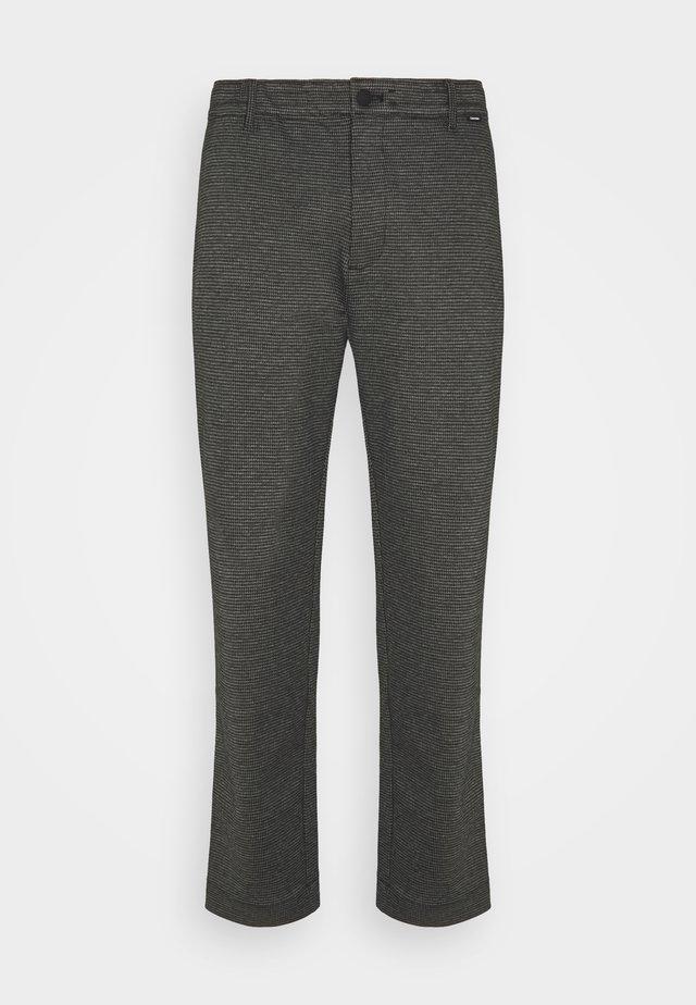 COMFORT HOUNDSTOOTH PANT - Bukse - drak grey