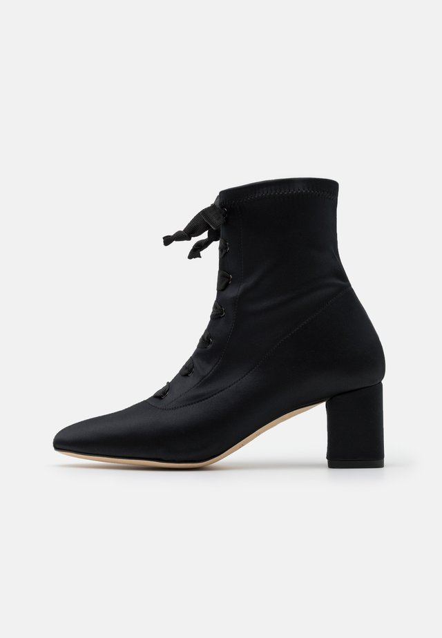 PIERA - Lace-up ankle boots - noir