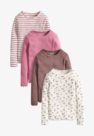 4 PACK - Long sleeved top - pink