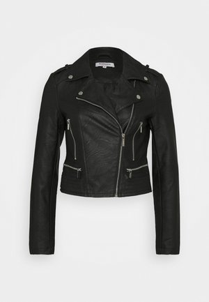 GRAMMO - Faux leather jacket - noir