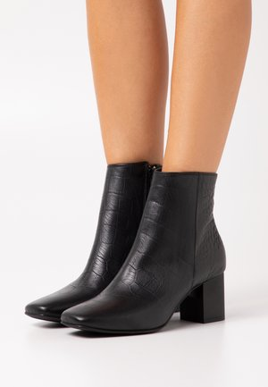 SLFZOEY CROCO BOOT  - Classic ankle boots - black