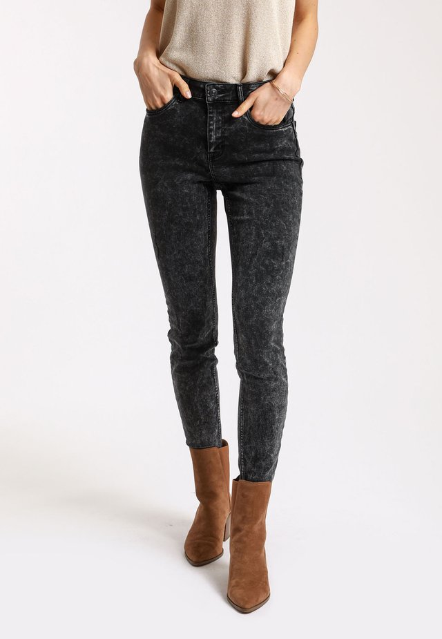 PUSH UP - Jeansy Skinny Fit - anthracite/gray