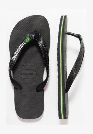 BRASIL LOGO - Chanclas de dedo - black/black
