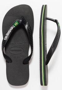 Havaianas - BRASIL LOGO - Pool shoes - black/black - 3