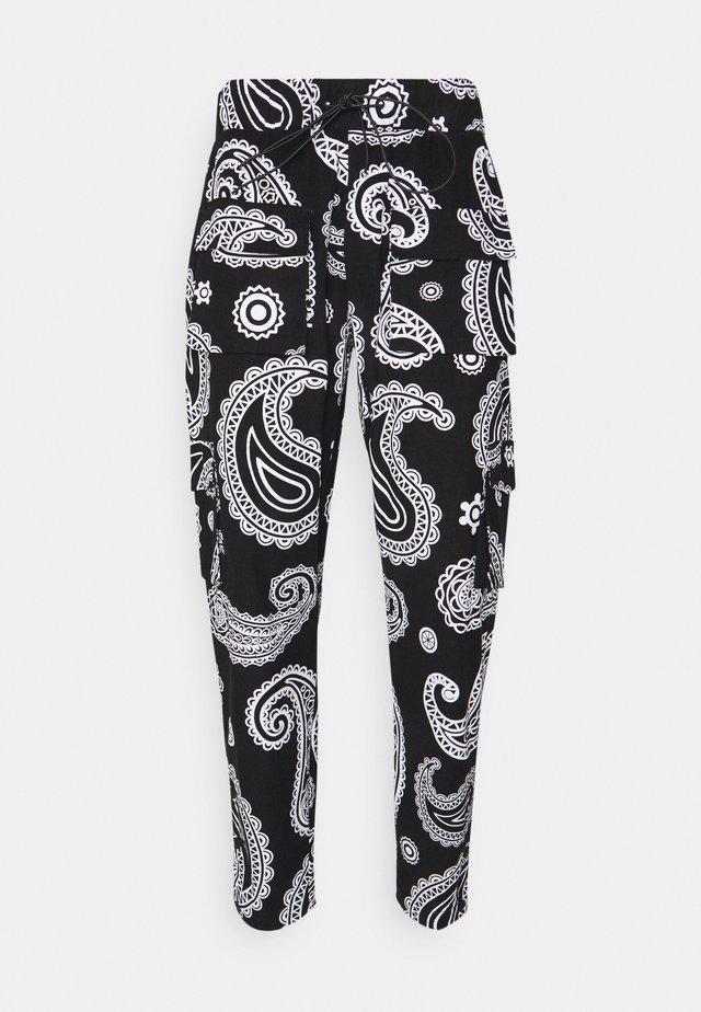 ROZAY - Pantaloni cargo - black