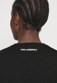 KARL LAGERFELD - RHINESTONE LOGO  - Print T-shirt - black - 4