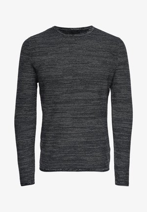 ONSWICTOR STRUCTURE CREW NECK - Jumper - black