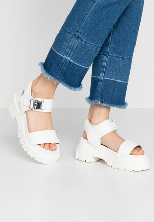 VEGAN JOJO - Platform sandals - white