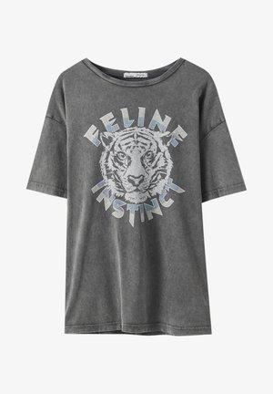 Print T-shirt - dark grey