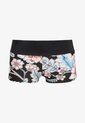 GRENADA BOTTOM - Swimming shorts - black with red